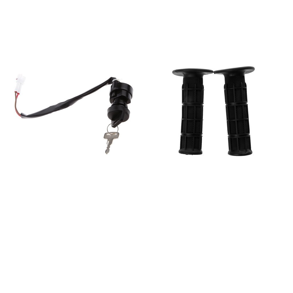 Baoblaze Ignition Key Switch Lock Cylinder for Yamaha,Universal 7/8'' Handlebar Black