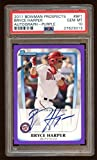 Pop 1 10 Bryce Harper 2011 Bowman Rc Auto /55 Purple Autograph Rc Impossible - PSA/DNA Certified - Baseball Slabbed Autographed Rookie Cards