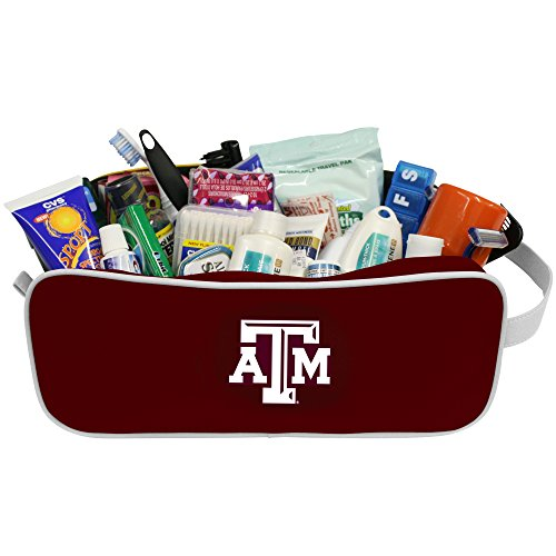 Charm14 NCAA Texas A&M Aggies Travel Case- Toiletry Bag with Embroidered Logo by Little Earth