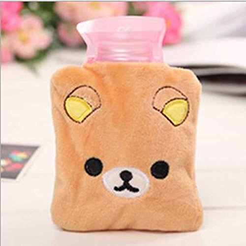 Cartoon Mini Hot Water Bottle Small Warm Hand Treasure Baby Warm Hand Treasure brown 4.5x3.9In