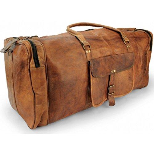 A.P. Donovan ✶ Große Reisetasche Leder Herren ✶ ohne Rollen für Sport, Fußball ✶ Gepäck-Tasche viel Platz ✶ Gym vintage ✶ 65cm Weekender