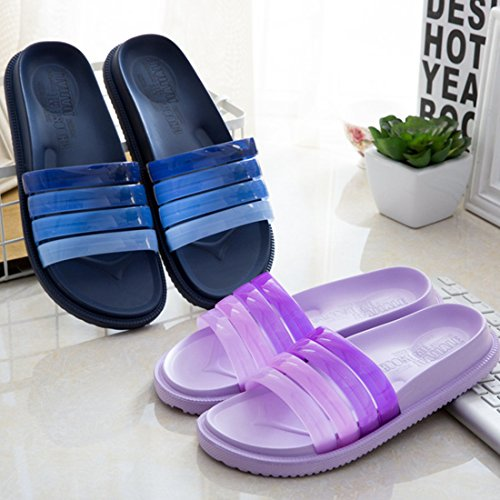 WILLIAM&KATE Mens and Womens Indoor Outdoor Summer Casual Gradient Color Anti-slip Slipper