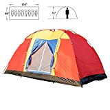 BOSON 8 person Easy Set Up Family Large Tent for Traveling Camping Hiking Backpacking with Portable Bag