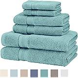 Pinzon Pima Cotton 6-Piece Towel Set, Mineral Green