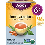 Yogi Tea - Joint Comfort - Supports Healthy Joints - 6 Pack, 96 Tea Bags Total
