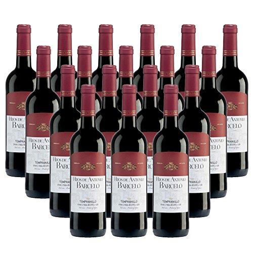 18er SET Rotwein Barceló Tempranillo Tinto 2014 aus Spanien