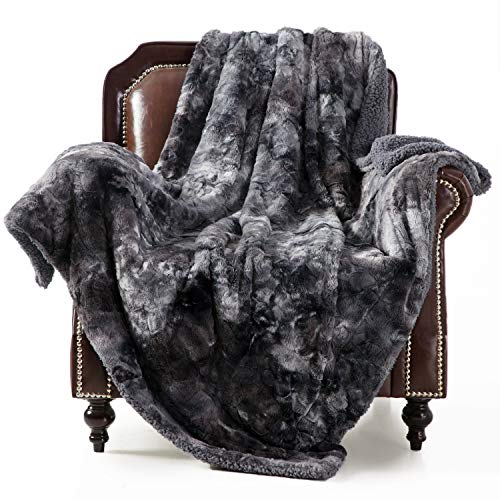 Faux Fur Tie-dye Blanket
