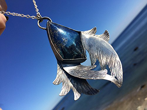 Wings of Night Covellite Necklace. Artisan Sterling Silver. Amulet, Talisman, Primitive, Rustic, Raw, Tribal, Organic, Earthy, Wabi Sabi.