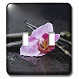 3dRose Andrea Haase Nature Photography - Orchid Flower Asia Style With Chopstick Photography - Light Switch Covers - double toggle switch (lsp_268198_2)