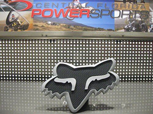 NEW 2015 Fox Racing Grey Black Fox Head Trailer Hitch 2 Cove