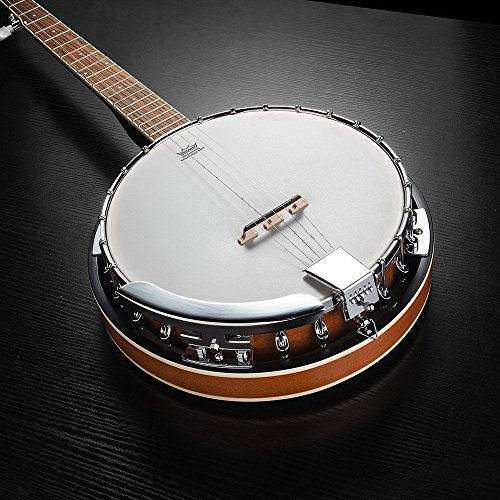 Vangoa 5 String Banjo Remo Head Closed Solid Back with beginner Kit, Tuner, Strap, Pick up, Strings, Picks and Bag by Vangoa (Image #5)