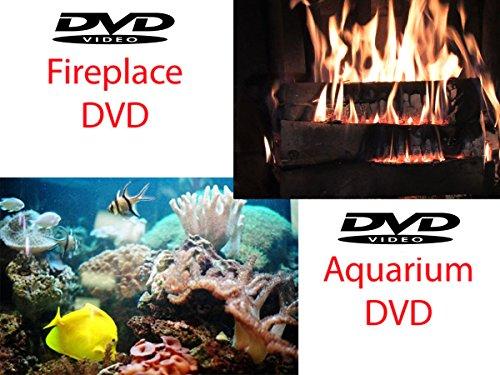 Fireplace DVD & Fish Home Aquarium DVD (2 Standard Definition DVDS)