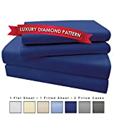 How Wide Is a King Bed 4 Piece Premium Luxury Microfiber Bed Sheet Set- SLEEP BETTER THAN EVER, Ultra Soft Luxury - Egyptian Quality 1600 Series Collection by My Perfect Nights (King, Dark Blue)