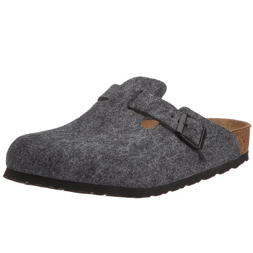 Birkenstock Clogs ''Boston'' from Felt in grey 42.0 EU W
