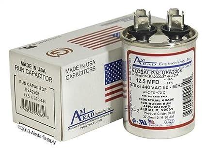 2 Pack Goodman B945672 125 Uf Mfd 370 440 Vac Amrad. Goodman B945672 Replacement 125 Uf Mfd 370 440 Vac Amrad Round Universal Capacitor. Wiring. 97f9003 Capacitor Wire Diagram At Scoala.co