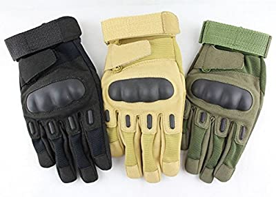 Tr Fashion Military Tactical Combat Full Finger Airsoft Hunting Riding Cycling Gloves/ Outdoor Sports Bike Cycling Gloves with Knuckle Protection