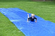 Squirrel Products Backyard Blast Big Waterslide 30' x 6' - Easy to Setup - Extra Thick to Prevent Rips