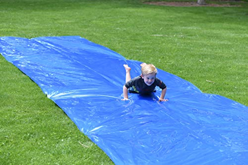 🥇 Squirrel Products Backyard Blast Big Waterslide 30′ x 6′ – Easy to Setup – Extra Thick to Prevent Rips & Tears