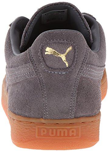 Sneaker In Gomma Puma Scamosciata Grigio Acciaio Acciaio / Squadra Oro