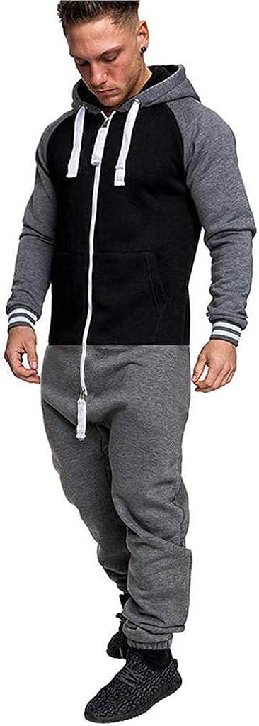 Herren Jumpsuit Jogger Jogginghose Trainingsanzug Overall Sweatshirt Sportanzug