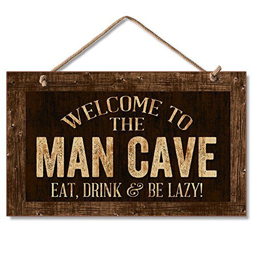 Man Cave Sign (Highland Graphics Decorative Wood Sign (Man Cave))
