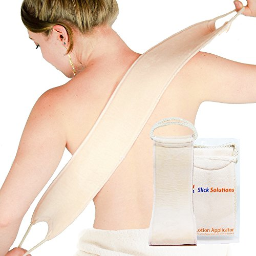 Slick Solutions Lotion Applicator for Back - Easy Self Application of Lotions and Creams - Smooth and Even Application to Entire Back - Sun Tan Lotion Applicator