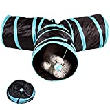 XIDAJE Prosper Pet Tunnel - Collapsible 3 Way Play Toy - Tube Fun for Small Animals