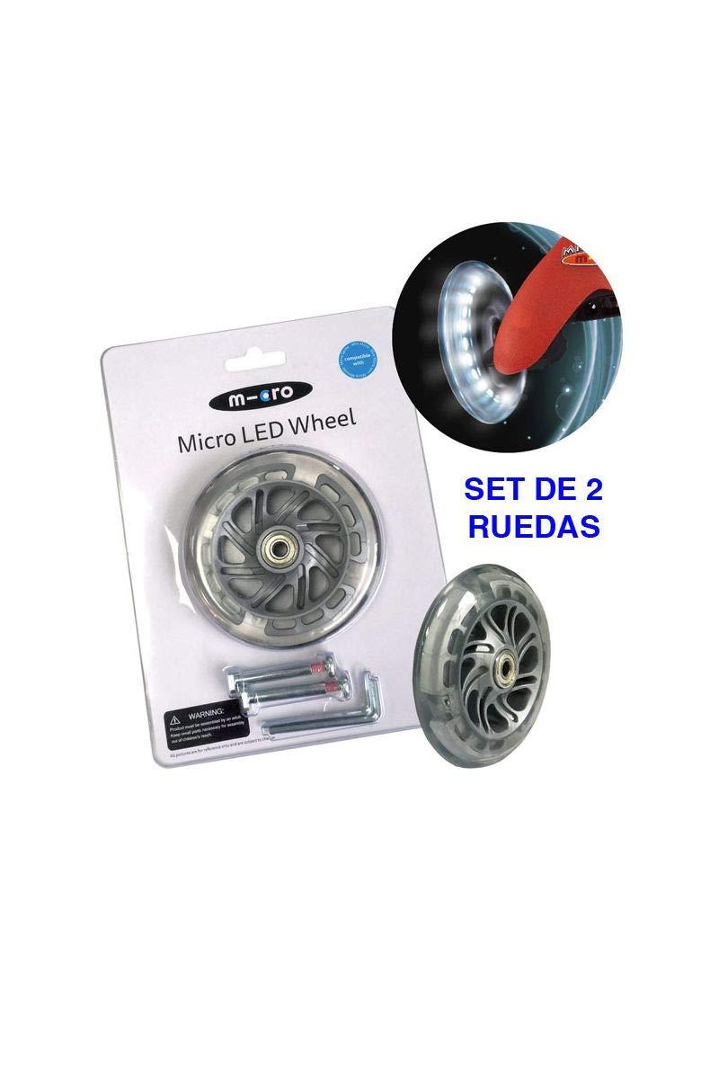 Micro - Set 2 Ruedas Iluminación LED para Patinete Micro ...