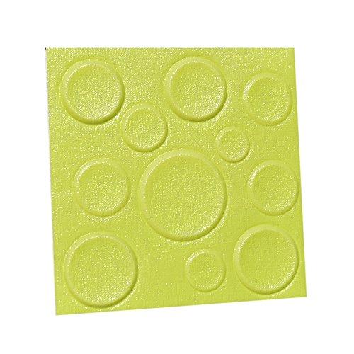 DealofTheDayPrime 2Pcs PE Foam 3D Self-Adhesive Wall Stickers Decor Tile Waterproof Wall - Jacket Femme La Denim