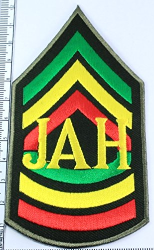 Rasta Reggae JAH Jamaica Embroidered Sew Iron On Patch, DIY