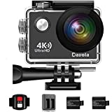 Action Camera 4K Waterproof Camera Underwater 16MP WiFi Sports Camera with Remote Control 170 Degrees Wide Angle Lens and 2 Rechargeable 1050mAh Batteries