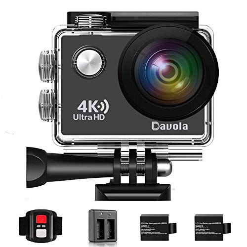 Action Camera Waterproof 4K Underwater Camera Video Sport Camera WiFi Davola 16MP Ultra HD with Remote Control 170° Wide Angle Lens 2 Rechargeable Batteries and Mounting Accessories Kit Shenzhen Dawola Technology Co.,Ltd.