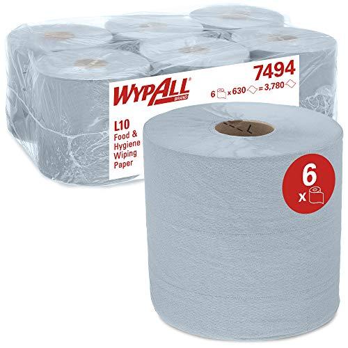 WypAll 7494 papieren doekjes voor levensmiddelen en hygiëne L10 met centrale uitname voor Roll Control dispenser, 1…