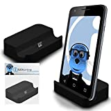 iTALKonline BlackBerry Classic Q20 2015 Black Micro USB Sync & Charge / Charging Desktop Dock Stand Charger