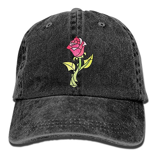 DFLJ Comfortable and Durable Rose Beauty and Beast Snapback Cotton Hat ()