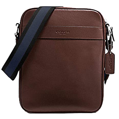 38531d46bc8f Coach Men s Flight Bag Smith Leather Crossbody Bag F54782 Mahogany   Amazon.ca  Luggage   Bags