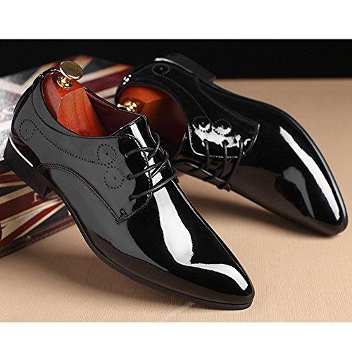 De De De Negocios Zapatos Caballero Black Acentuado Boda Derby De Dedo La Del Del De Banquete Pie Cuero Los Zapatos Ocasionales De Estilista Pelo Brogue Del Vendimia Hombres De Charol Bx0OwzqdB