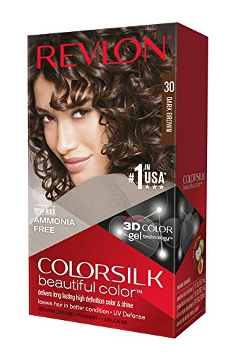 Revlon ColorSilk Haircolor, Dark Brown, (Pack of 3) by Revlon