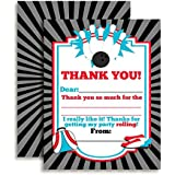 """Bowling Thank You Notes for Kids, Ten 4"""" x 5.5"""" Fill In The Blank Cards with 10 White Envelopes by AmandaCreation"""