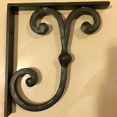 Wrought Iron Bracket SOLID - Corbels Granite - Marble - Shelf Support - Heavy Duty - Hand Forged in USA by Premier Decorative Corbels by Premier Decorative Corbels