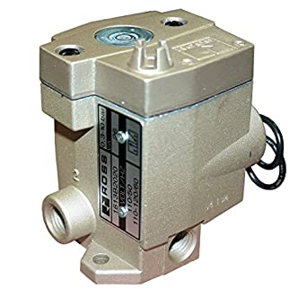 1//8 NPT 24 VDC Ross Controls 1613B1020W 16 Series 3//2 Single Solenoid Controlled Valve Normally Closed Spring Return