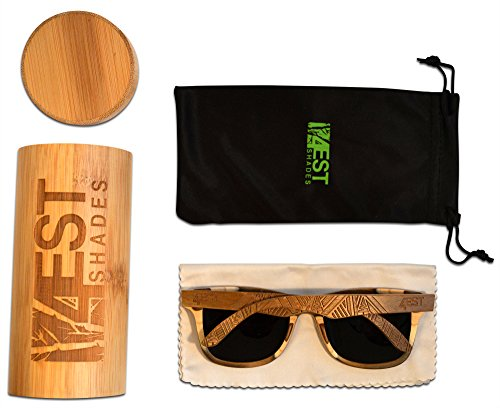 628cbc8862 Wood Sunglasses made from Maple Cherry-100% polarized lenses in a wayfarer  that