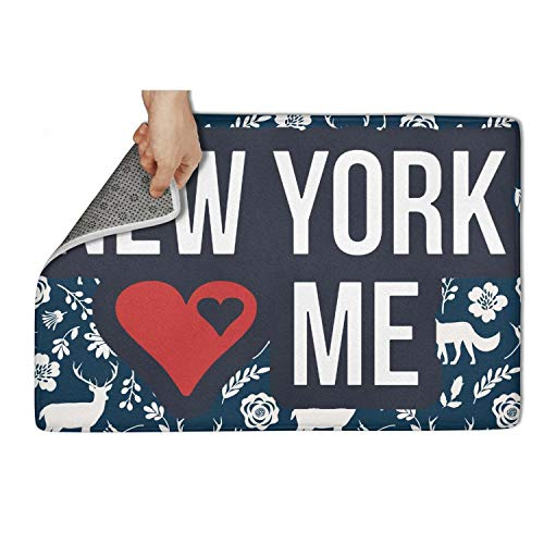OPIERLFDDC Love-NY-and-New-York-Loves-You- White Door mat Floormat Non Slip Non-Slip Door Mat for Indoor Printted Waterproof Funny Bathroom 31