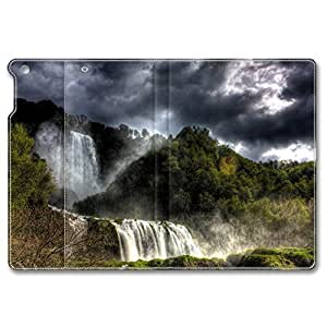 iPad Air Case, Shock-Absorption/Impact Resistant PU pc hard Personalized Protective Folio Smart Case Cover(Automatic Wake/Sleep Function) for iPad Air - Forest Waterfalls Hdr