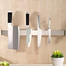KES SUS304 Stainless Steel Magnetic Knife Rack 12-Inch 3M Self Adhesive Kitchen Utensil Rail, Brushed Finish, KUR201S30-2