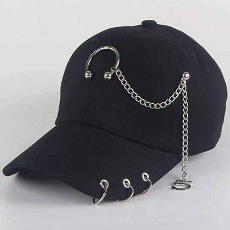 Jiushilun Sombreros Papá BTS Creative Piercing Ring Gorra de ...
