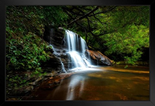 Wenworth Falls Blue Mountains National Park New South Wales Photo Art Print Framed Poster 20x14 inch