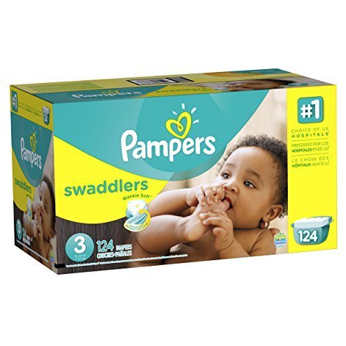 Pampers Swaddlers Diaper Size 3 Giant Pack 124 Count by Pampers by Pampers