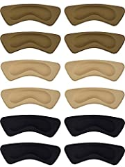 Hotop 6 pairs heel cushion pads heel shoe grips liner self-adhesive shoe insoles foot care protector Features: The heel cushion pads feature with good stickiness favorable to keep them in place firmly when dancing, shopping, running, etc. Wea...