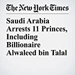 Saudi Arabia Arrests 11 Princes, Including Billionaire Alwaleed bin Talal | David D. Kirkpatrick